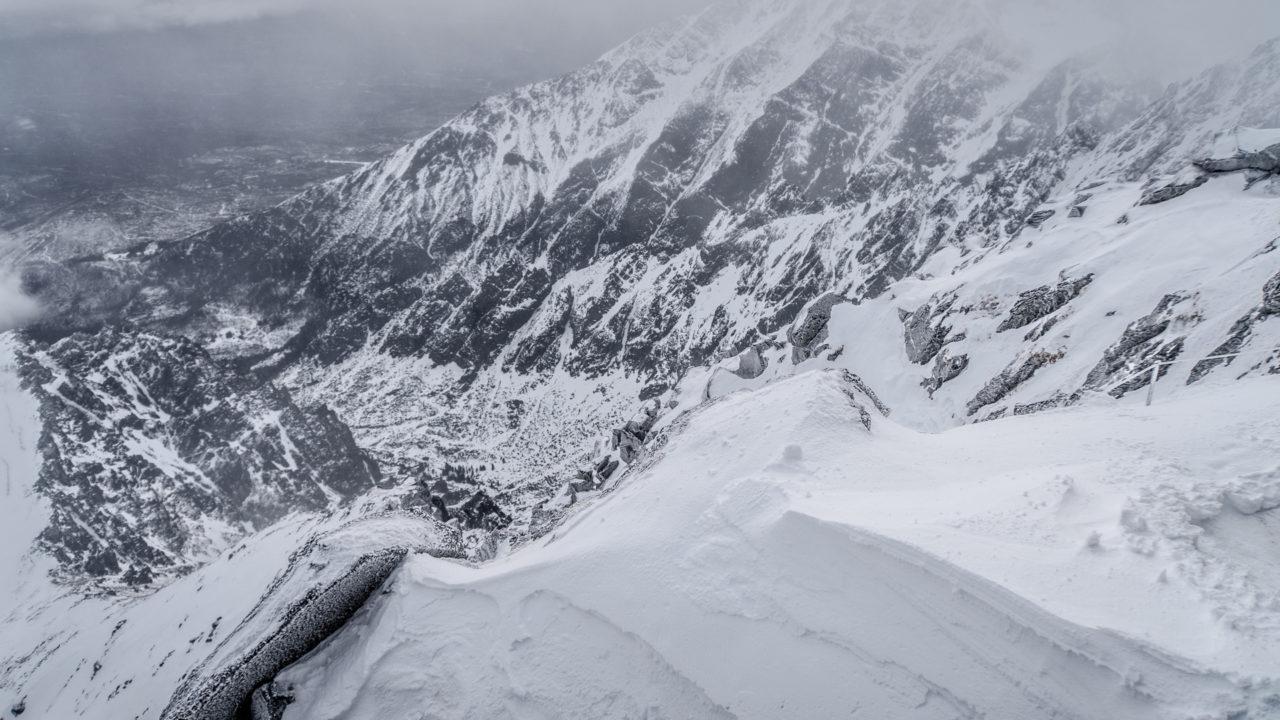 Tatrzańska Łomnica widziana ze szczytu
