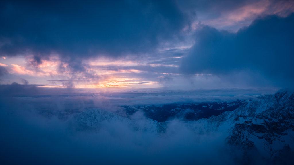 Zachód słońca na Łomnickim Szczycie