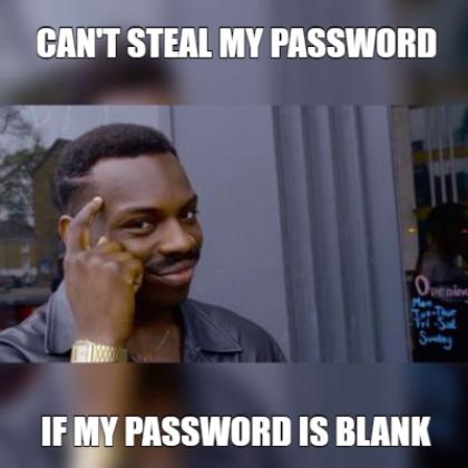 Blank Password