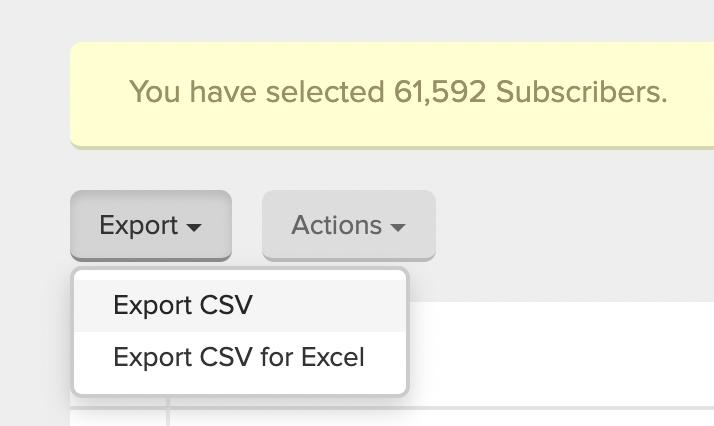 Mailerlite Export