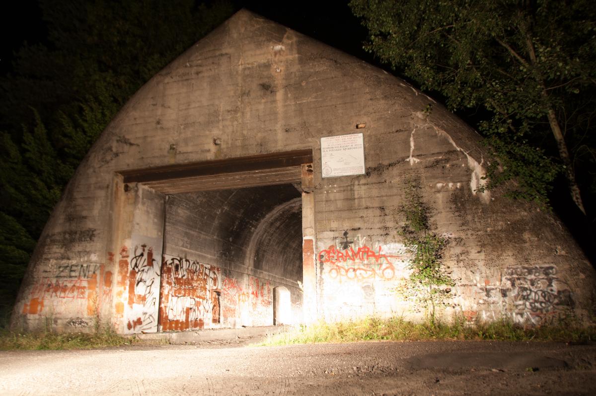 Anlage Mitte w nocy