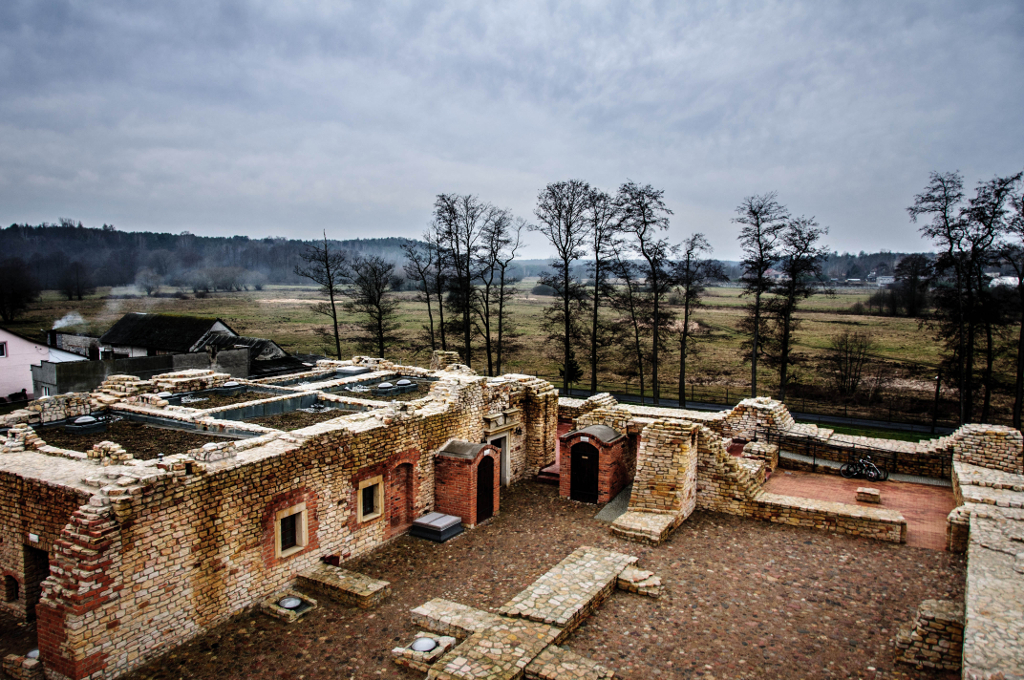 Ruiny zamku Kazimierza Wielkiego w Inowłodzu