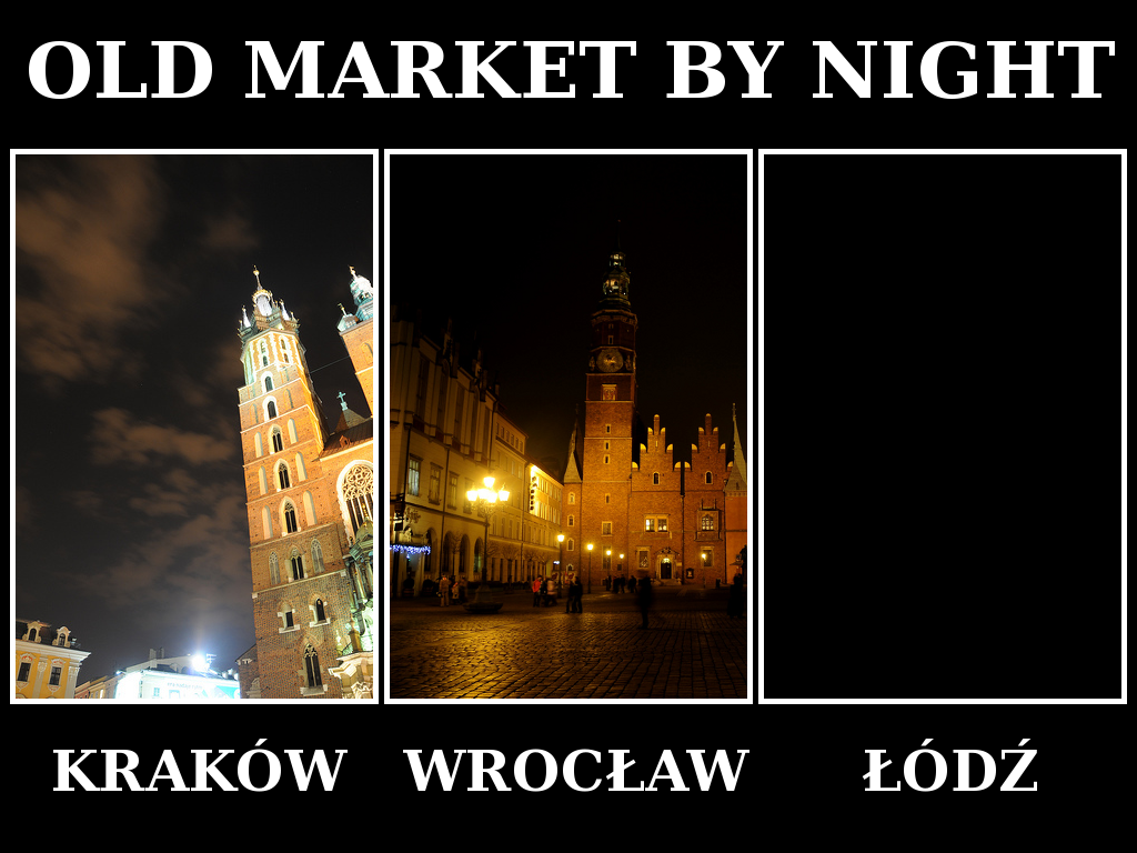 Stary Rynek w Krakowie, Wrocławiu i Łodzi