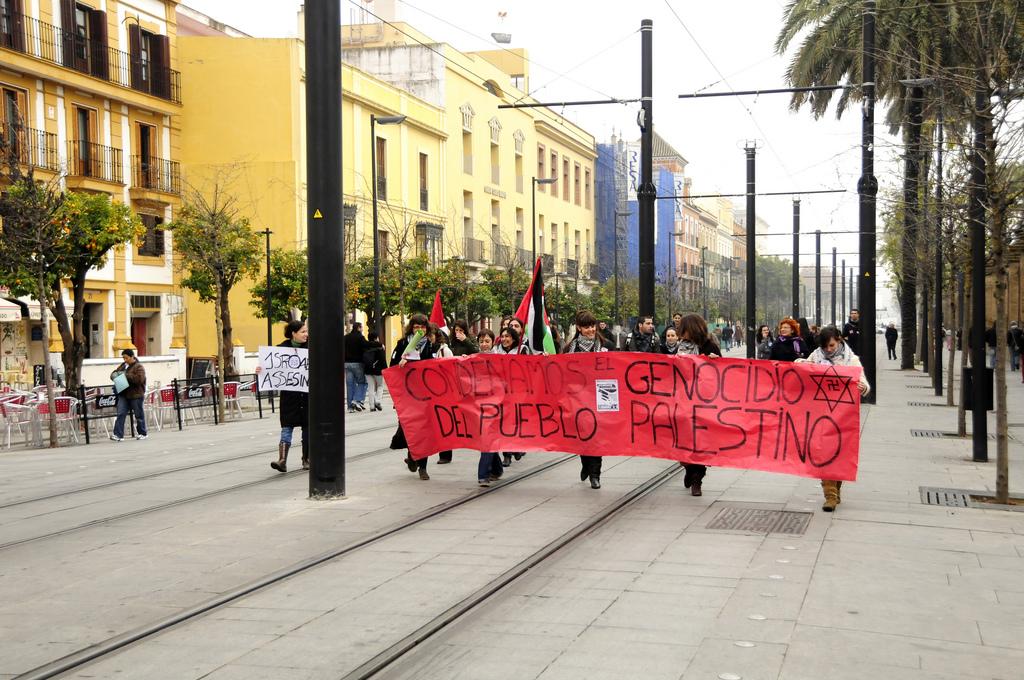 Manifestacja w Hiszpanii