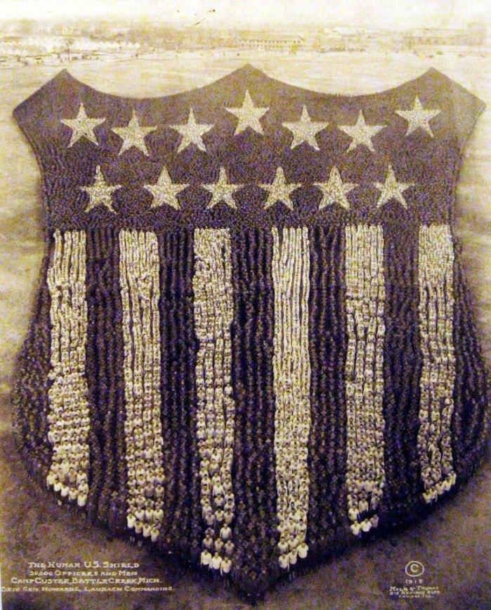 Tarcza Stanów Zjednoczonych, 1918, Camp Custer
