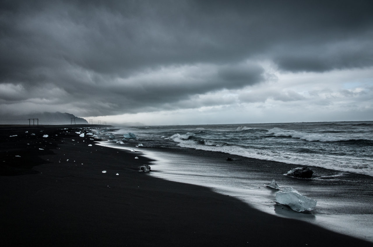 Czarne plaże na Islandii